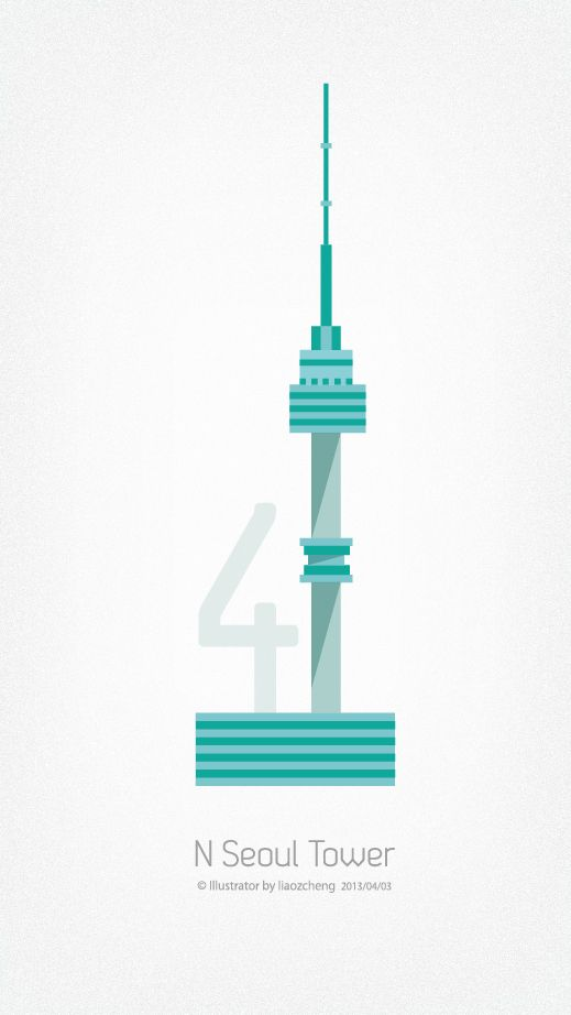 N Seoul Tower by Z.CHENG LEO, via Behance