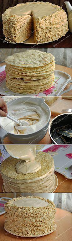 Napoleon tort cu cremă delicioasă