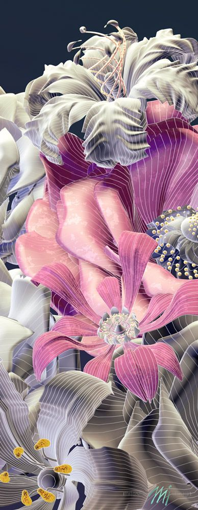 #flower #3D #design - Graphic source for #wallpaper and #mural prints