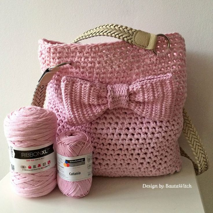 DIY - Crochet bag for spring with bow http://bautawitch.se/2014/04/13/diy-virkad-vaska-till-varen-med-rosett/ ♡ Teresa Restegui http://www.pinterest.com/teretegui/ ♡