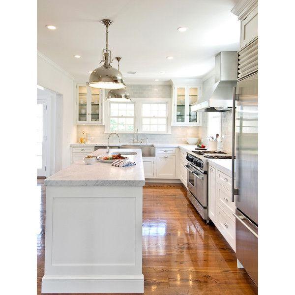 kitchens restoration hardware harmon pendant l shaped