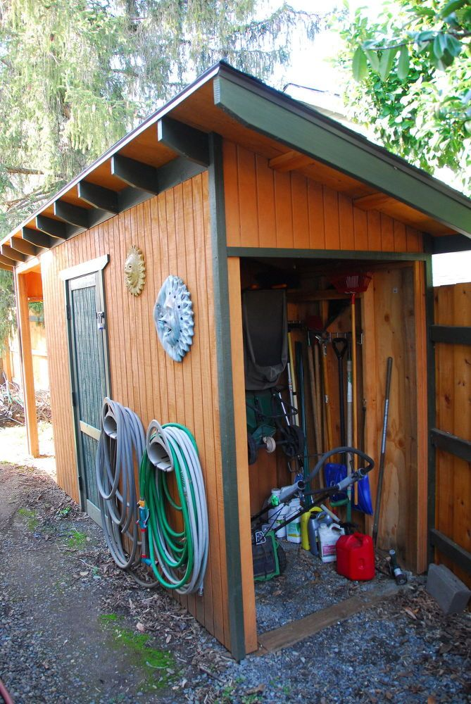 This side-yard #shed had two challenges -- 1) keep out critters and 2) maximize usable space on a narrow strip of property between our house & the lot line. [me…
