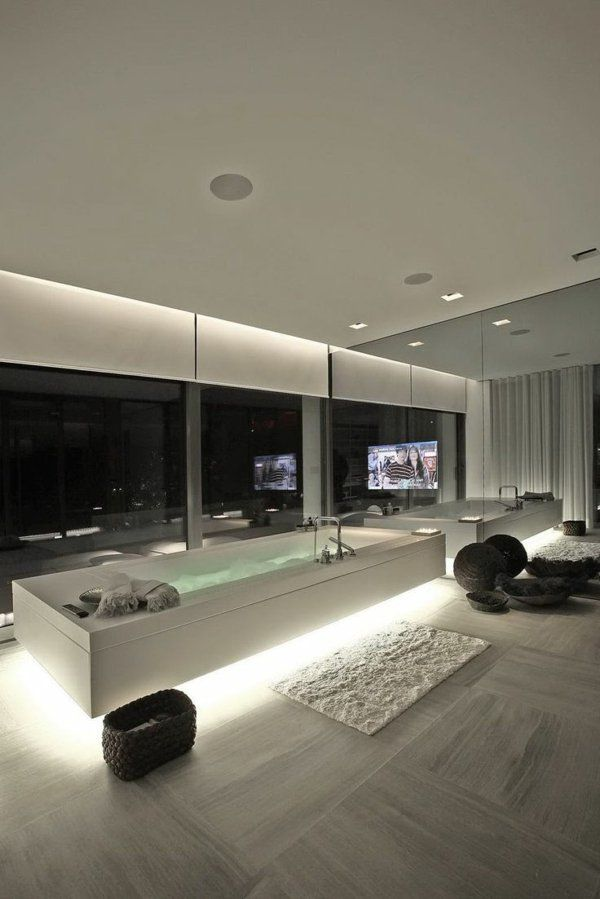 chambre dhtel avec jacuzzi intrieur contemporain et grande baignoire rectangulaire - Modele Grande Salle De Bains Avec Spa
