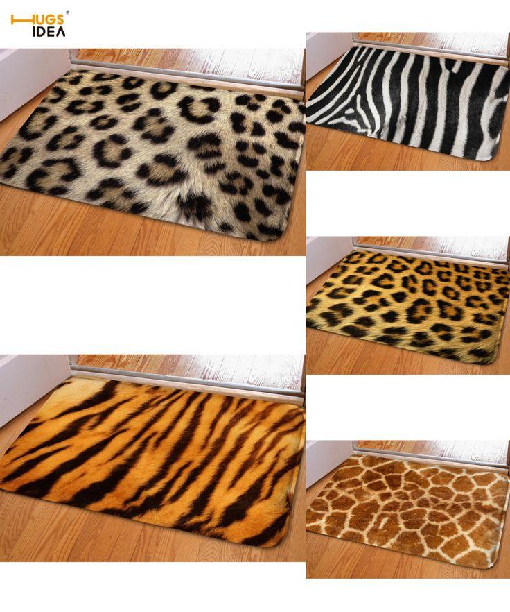 [Visit to Buy] HUGSIDEA 3D Leopard Design Floor Carpet Europe Style Rugs Carpets for Living Room Kitchen Outdoor Entrance Doormat Alfombras  #Advertisement
