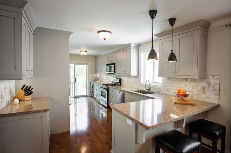 17 best ideas about small kitchens with peninsulas on for Kitchen ideas center madison