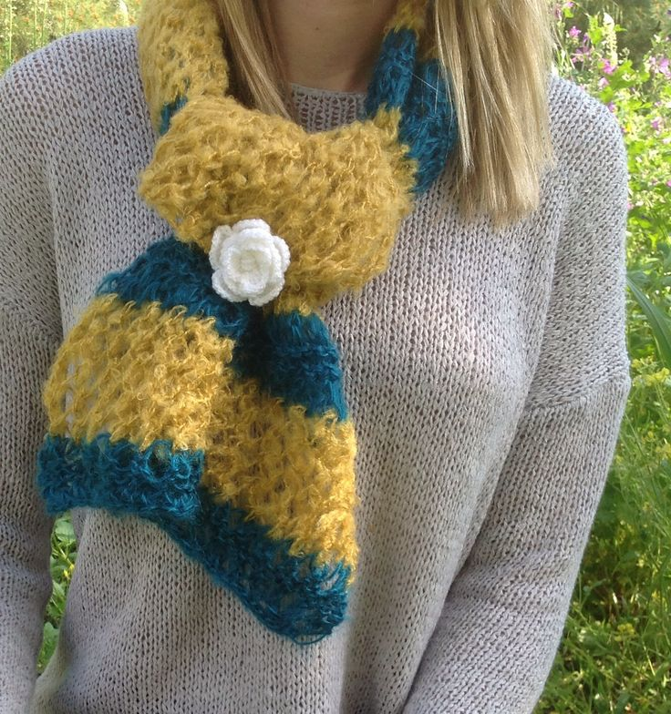 Knit Swal - Mohair by miCalorKnits on Etsy