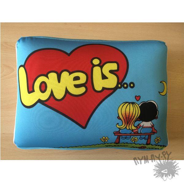 Подушка Love is... - фото
