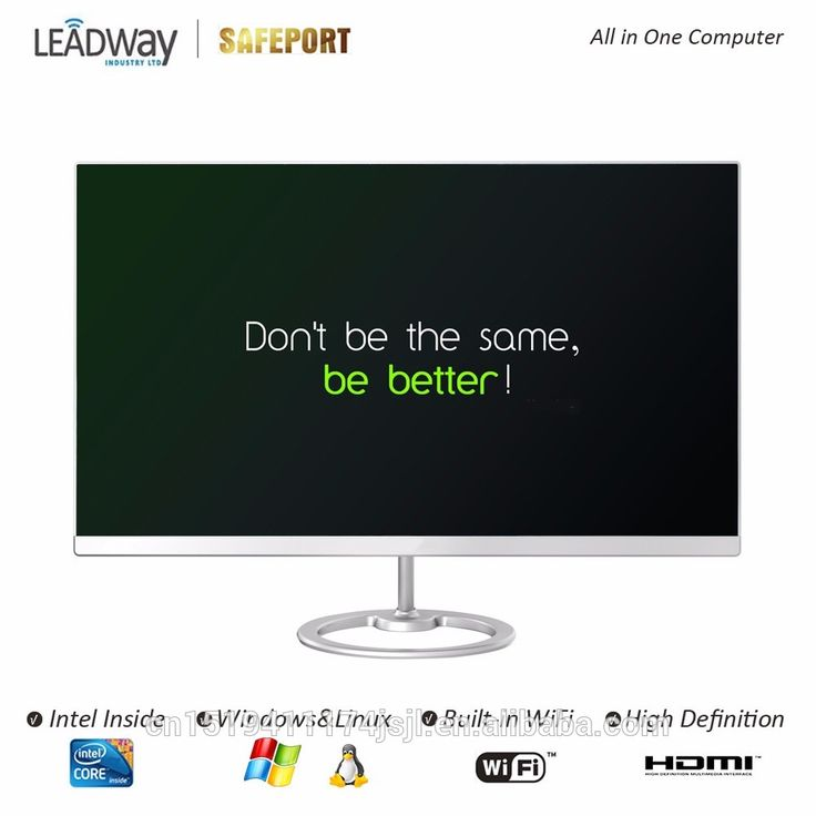 All in one PC 23.8inch Frameless LED Intel Braswell J3160 4GB 120GB SSD for office home Vanguard Series