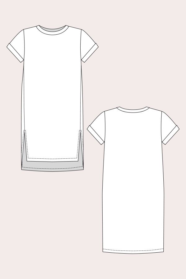 inari dress line drawing