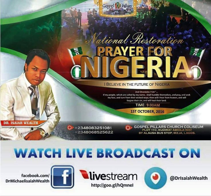 Come let us pray for Nigeria #October1st2016 9am to 10.30am Invite friends and family Dress code: Green and white #Godishelpingme