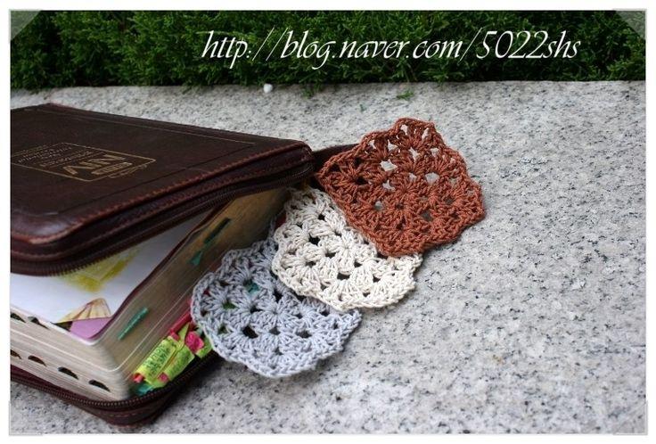 crochet gift DIY  book mark http://blog.naver.com/5022shs/220161167833