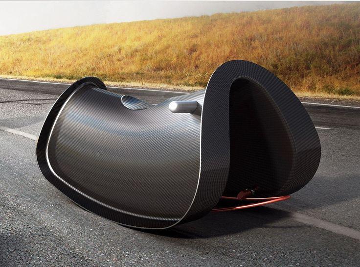 Cavalo de balanço em fibra de carbono RRR by lllooch design Leonid Lozbenko