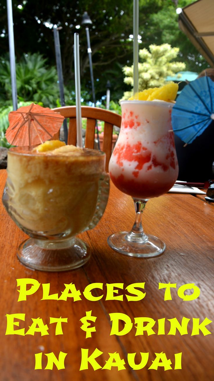 Places to eat and drink in Kauai