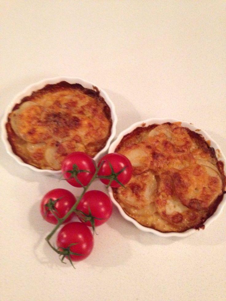 creamy potato bake: http://forkandkniv.com/creamy-garlic-potato-bake/