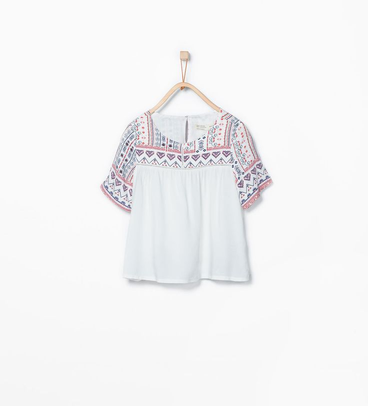 Blouse with printed yoke-Shirts & Blouses-Girl (3-14 years)-KIDS | ZARA United States