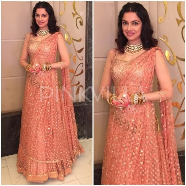 Yay or Nay : Divya Khosla Kumar in Tarun Tahiliani and Anju Modi | PINKVILLA