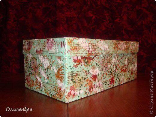 Декор предметов Рисование и живопись Преображение обувной коробки шаг за шагом  Бумага Клей Коробки Краска фото 1