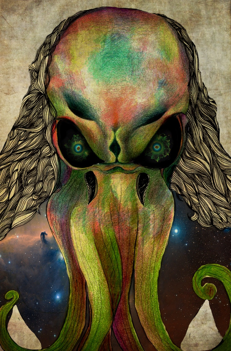 Colored pencil, stylo, photoshop...Lovecraft