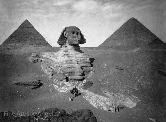 PH02 Vintage 1800/'s Photo Egypt Egyptian Sphinx Pyramids Poster Re-Print A3//A2