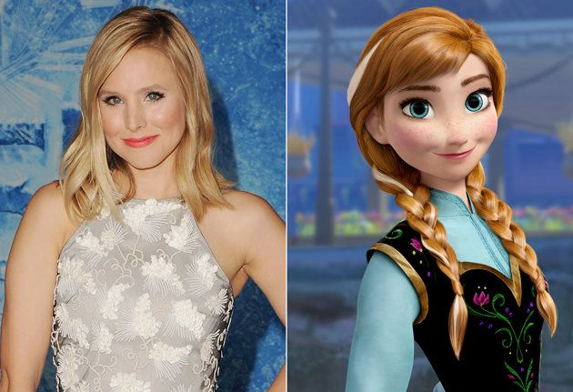 Kristen Bell (Anna) dreamed of being a Disney princess since she was little