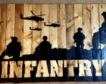 Free Shipping US Army Infantry Silhouette Wall Art by RoutedEdge