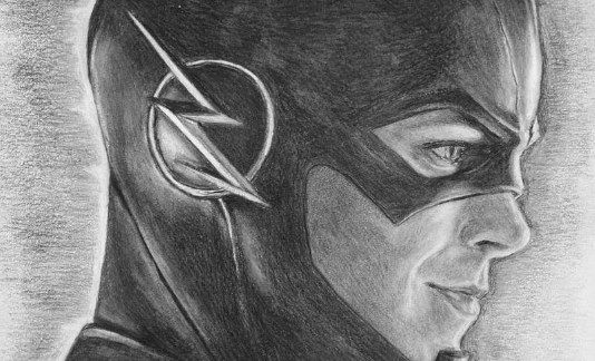 Barry Allen/Flash/Graphite/Hero/Drawing