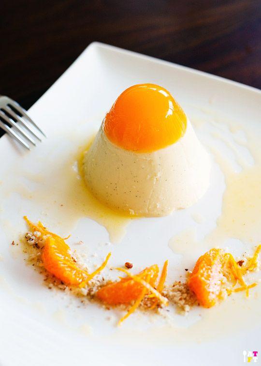 Mandarin Saffron Panna Cotta