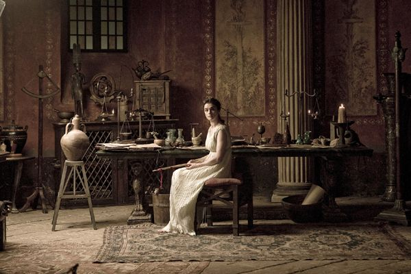 Hypatia's Study - Hypatia [Rachel Weisz] - Noted mathematician, astronomer & philosopher    Photo by Teresa Isasi ©Newmarket Films 2010. All rights reserved.