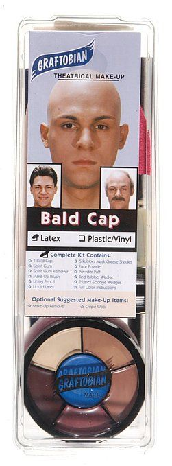 Amazon.com : Graftobian Complete Bald Cap Kit with Instructions