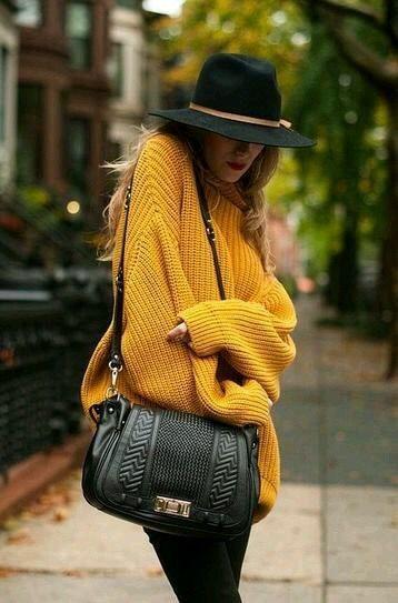 Sweter mostaza