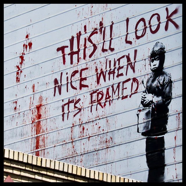 located directly above Amnesia, 853 Valencia St, San Francisco by Banksy // photo by Jonathan Chan, 2010