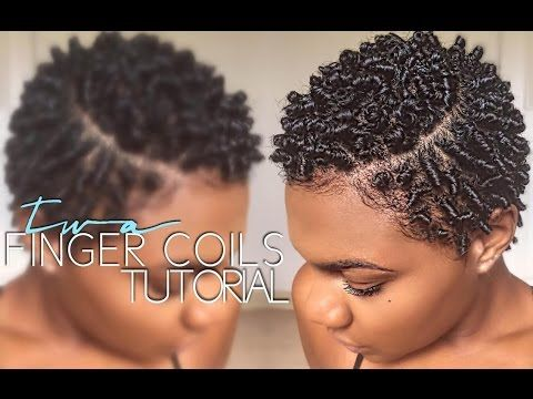 TWA FINGER COIL TUTORIAL- Rikki Danielle - YouTube