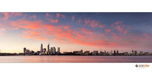 Perth Australia Skyline Sunset