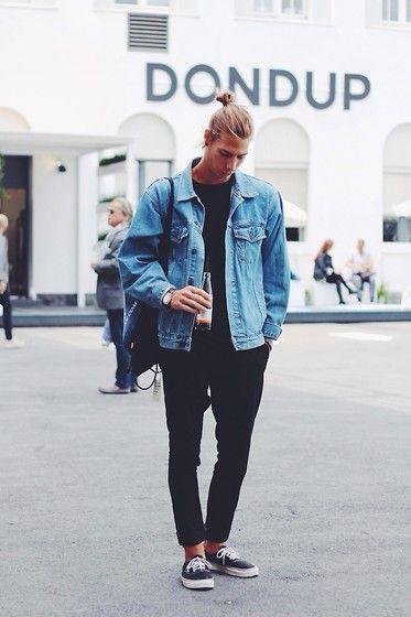 2015-07-28のファッションスナップ。着用アイテム・キーワードはスニーカー, 黒パンツ, Gジャン・デニムジャケット,H&M, VANS(バンズ)etc. 理想の着こなし・コーディネートがきっとここに。| No:119510
