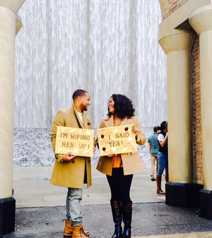 Such a cute engagement announcement!