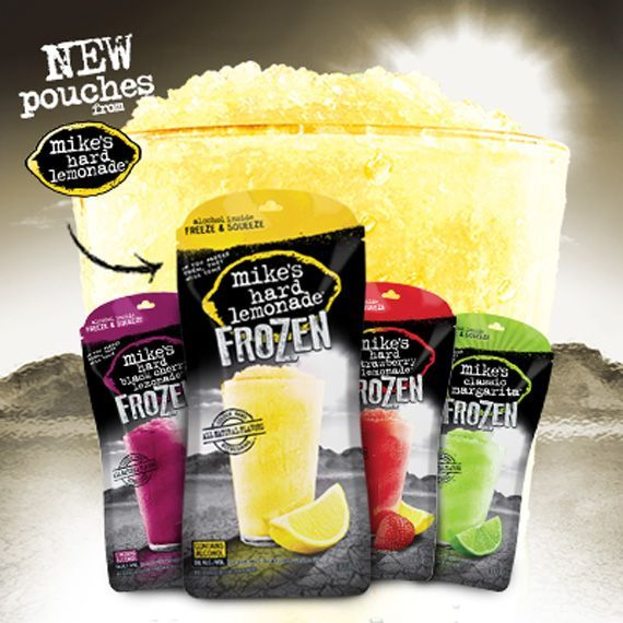 Mike's Hard Lemonade Frozen pouches - alcohol included!  Dangerously good!