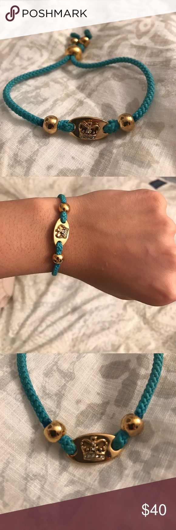 Juicy Couture Rope Bracelet Juicy Couture Turquoise Rope Bracelet. Perfect for Summer ☀️. Lightly worn. Juicy Couture Jewelry Bracelets