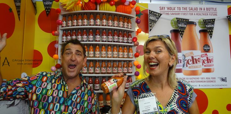 All smiles and laughter from Karen and Adam on  the @chogazpacho stand.