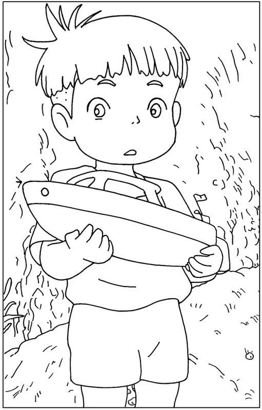 Ponyo pesquisa google elora bday ideas pinterest for Ponyo coloring pages to print