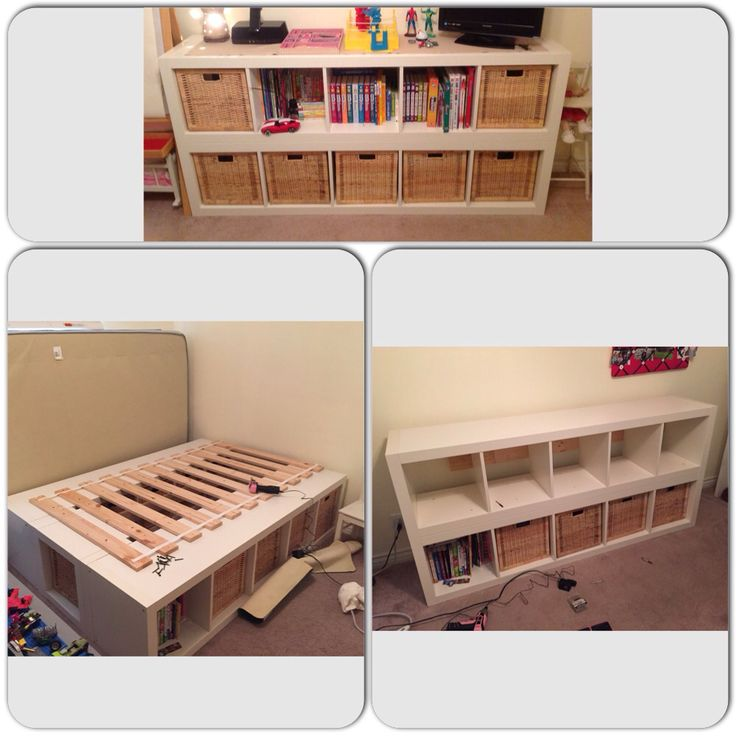 Repurposing our daughters full size bed frame. She no