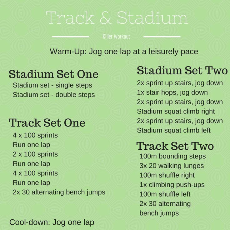 fitness & fro-yo; track and stadium workout