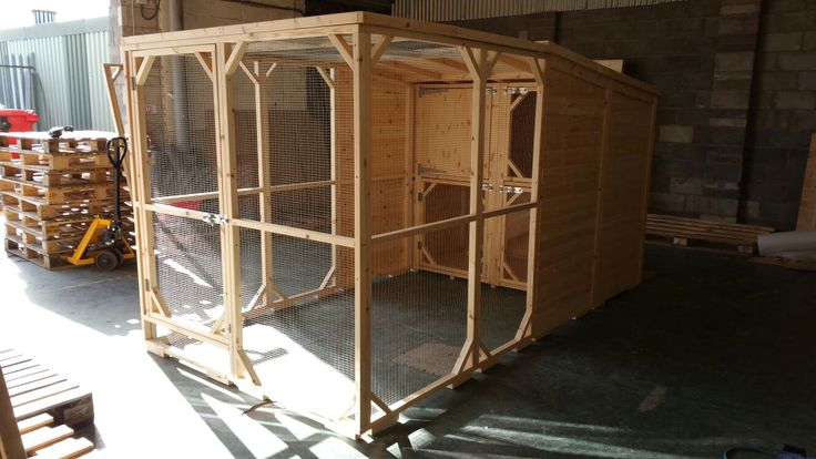 Large Double Rabbit Hutch And Walk In Run. Perfect Home For Your Bunnies Handmade By Boyles Pet Housing