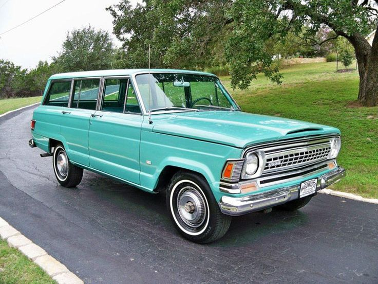 blue-green-wagoneer needs wood paneling and then it would be perfect!