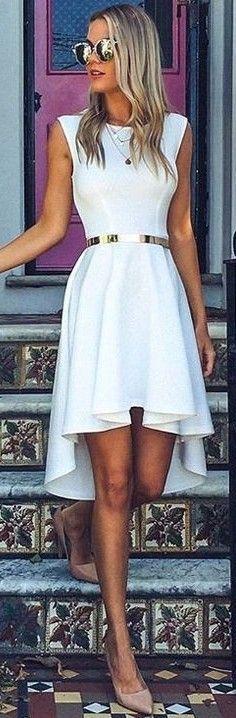 White Midi Dress                                                                             Source