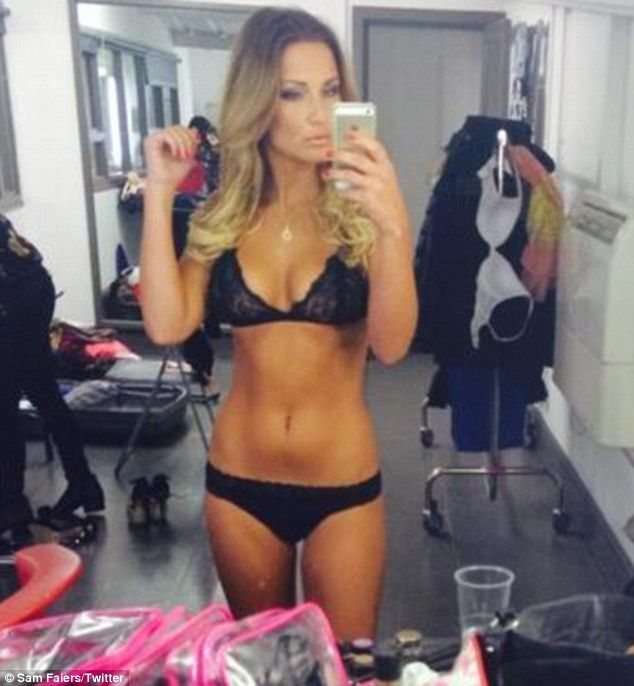 New figure: Sam Faiers posted a sexy shot of herself in her underwear after following a 'no carbs, no alcohol' diet for the past nine days