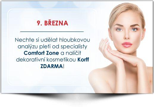 Analýza pleti + líčení od luxusní kosmetiky Korff. Institut Krásy