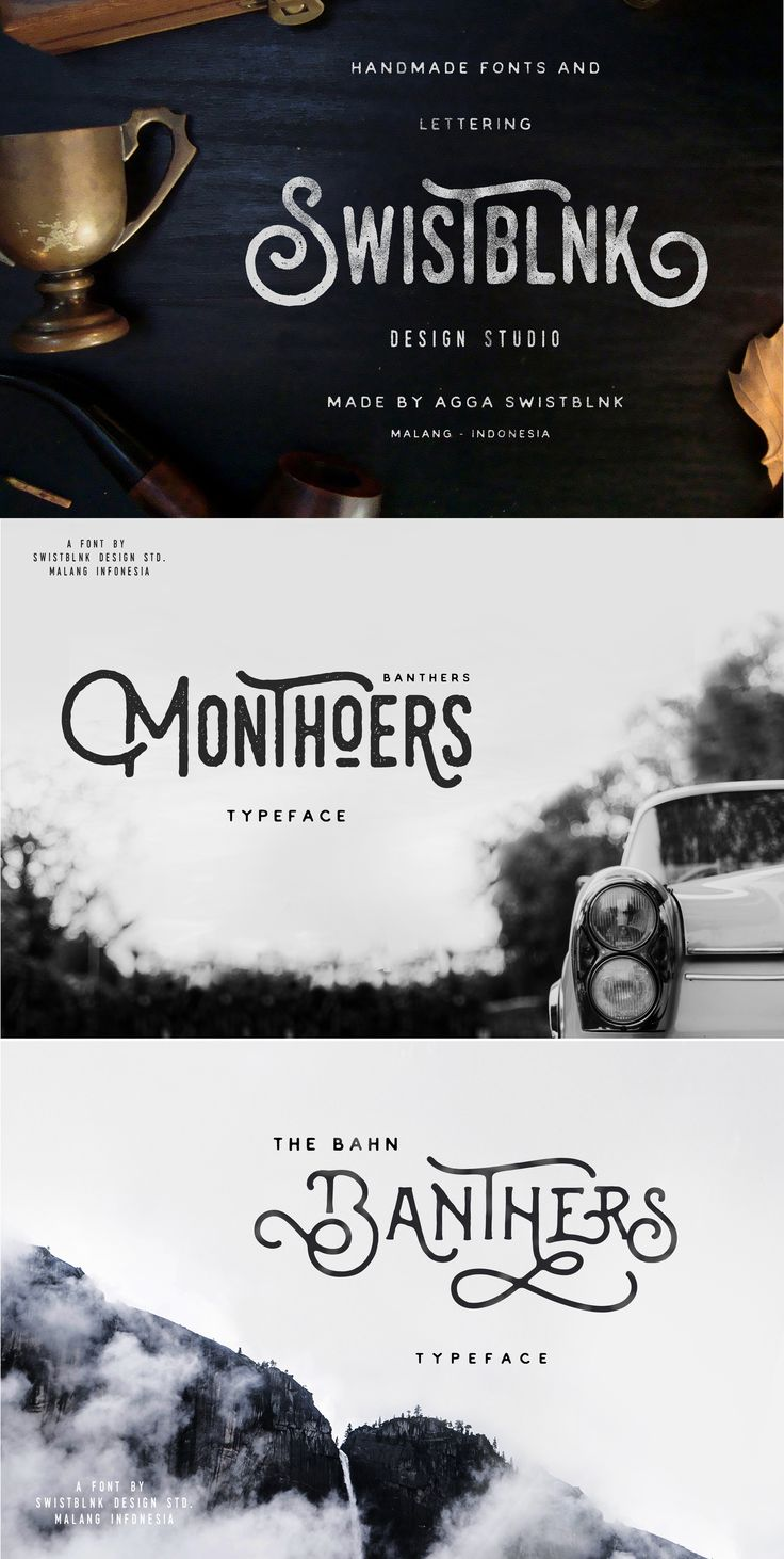 Monthoers Typeface by Swistblnk Design Std. on Creative
