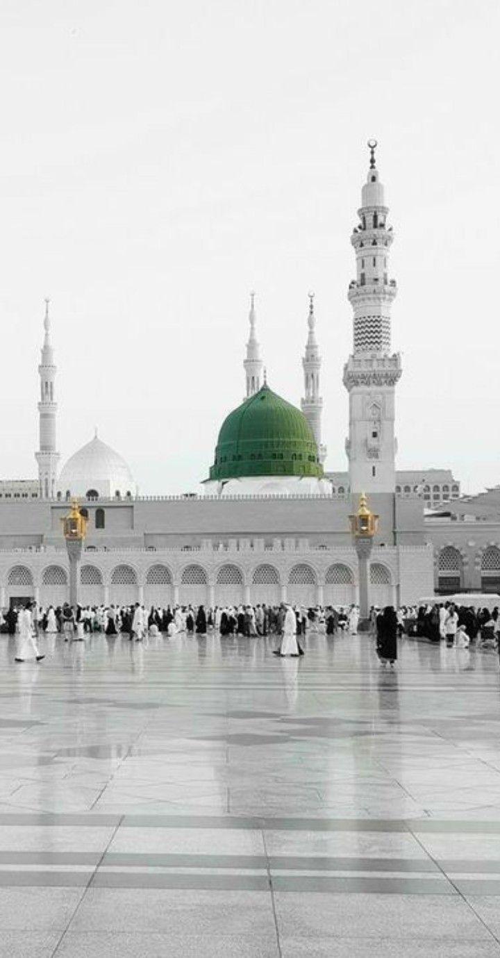 Pin By 𝑵𝒊𝒔𝒉𝒂 𝒔 𝑾𝒐𝒓𝒍𝒅 On I Love Islam Medina Mosque Beautiful Mosques Mecca Kaaba