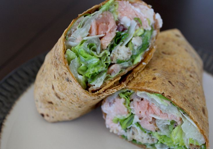 Salmon Caesar Salad Wrap