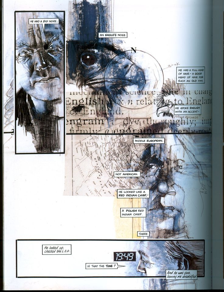 A page from Neil Gaiman & Dave McKean's Violent Cases